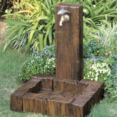 Garden Sink, Water Garden, Ponds Backyard, Backyard Landscaping, Backyard Projects, Garden Projects, Diy Garden Fountains, Outdoor Sinks, Garden Features