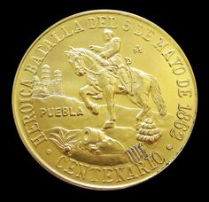 1962 GOLD MEXICO CINCO DE MAYO MINT STATE COMMEMORATIVE COIN