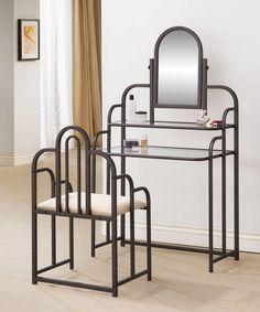 Binney Vanity Set with MirrorVanity Table White Stool Set for Women Mirror Makeup Drawers  . White Metal Vanity Set. Home Design Ideas