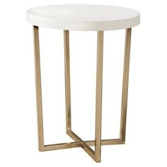 Find standalone tables at Target.com! Threshold round accent table - white and gold