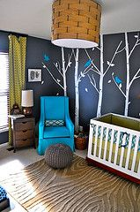 Kid's nature room. So cute!! I love this one