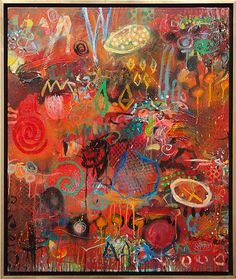 Incorporate wall art, like this William Rainey painting, into a room for design and color inspiration.