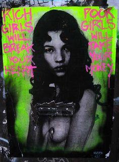 #kate moss #neon #graffiti