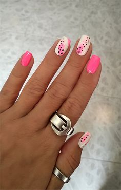 2 Quick Nail Art Designs for summer ♥ Cute Pink Nails, Pink Nail Art, Fancy Nails, Neon Nail Art, Summer Acrylic Nails, Best Acrylic Nails, Summer Nails, Summer Nail Art, Stylish Nails