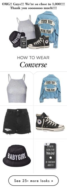 """""""940!!!! OH MY LORD!!"""" by riz-lane on Polyvore featuring moda, Topshop, Glamorous y Converse"""