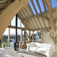 Barn style buildings offer flexibility to suit everyone's tastes. Whether a barn conversion or barn style new build, each allows for an individual design and finish. Oak Framed Buildings, Metal Buildings, Oak Frame House, Timber Frame Homes, Timber Frames, My Dream Home, Future House, Building A House, Building Homes