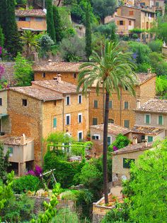 The charming village of Deià in Mallorca Island, Spain