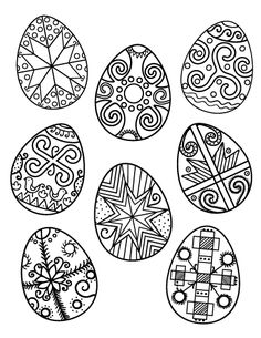 Printable Ukrainian Easter egg coloring page. Free PDF download at http://coloringcafe.com/coloring-pages/ukrainian-easter-egg/