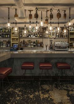 Whyte Brown Restaurant, London designed by Blacksheep. Modern, minimalist, industrial or retro style bars. Learn how to create the best ambiences! Check out http://www.pinterest.com/homedsgnideas/ for more amazing ideas.