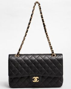 Chanel 2.55 Caviar Leather bag. The most gorgeous timeless bag on earth. Need to save up, I want to own one before I die