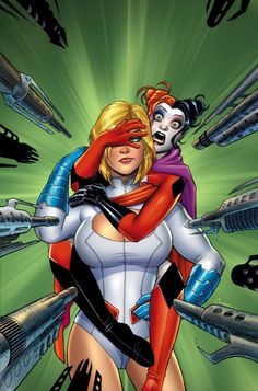 Harley quinn and power girl tpb vartox amanda conner dc comics 3/2 mg