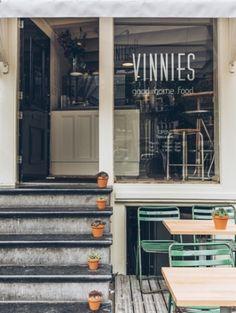 VINNIES DELI 2 deli/coffee bar, with terrace - Nieuwezijds Kolk 33, Amsterdam + Haarlemmerstraat 46.