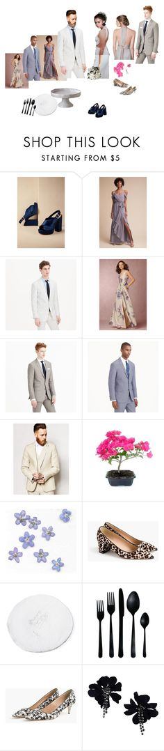 """""""Moon mood"""" by jenniepie ❤ liked on Polyvore featuring GALA, Twobirds, Kane, J.Crew, ASOS, Marni, Lanvin and Anthropologie"""