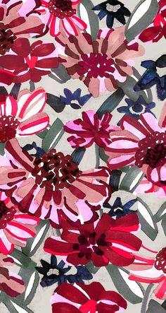 Floral fabric Pattern Floral, Motif Floral, Floral Fabric, Pattern Art, Flower Patterns, Floral Prints, Floral Room, Floral Design, Graphic Design