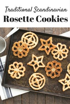 Make classic Scandinavian Rosettes this holiday using Nordic Ware's Rosette & Timbale Set! Rosettes Cookie Recipe, Rosette Recipe, Rosette Cookies, Beignets, Timbale Recipe, Baking Recipes, Dessert Recipes, Desserts, Swedish Cookies