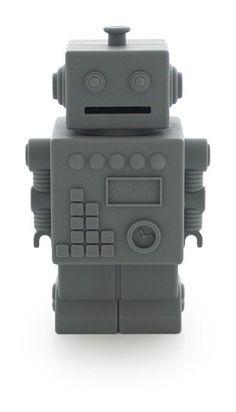 Robot Silicone Money Box by KG Design - Dark Grey