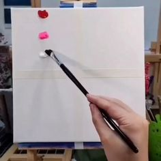 Diy easy canvas painting ideas for beginners in 2020 Simple Canvas Paintings, Easy Canvas Art, Small Canvas Art, Easy Canvas Painting, How To Paint Canvas, Cute Easy Paintings, Galaxy Painting, Face Paintings, Diy Canvas