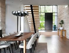 Attractive Large Dining Table Under The Stairs Case Design Ideaas And The Minimalis  Designu2026