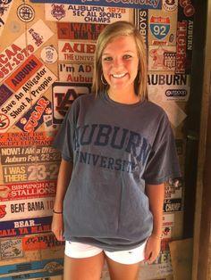 Distressed Auburn University Pocket Tee (SKU WOMEN'S TEBD626154  11835035)