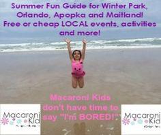 Winter Park, Florida : Macaroni Kid Event calendar