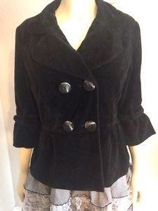 Mac Jac Black Velvet Jacket Coat Peplum 10 Holiday Fall Winter | eBay