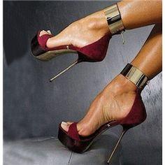 Sexy Metal Ankle Wrap Stiletto Sandals 2014