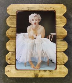 Super cute!! only $25!! Marilyn Monroe Retro Metal Poster Framed in Distressed Pinewood by ArtMaxAntiques on Etsy