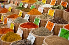 Spice market in the Ancient City of Istanbul ~ amazing colors