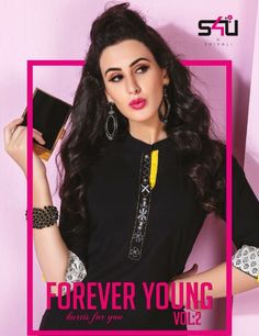 dceb3b6406 S4U Shivali Forever Young Vol 2 Fancy Designer Denim Cotton with Work  Readymade Short Tops at