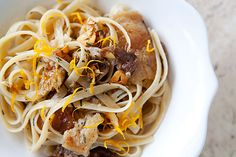 Classic Venetian pasta dish with duck confit or slow roasted duck, garlic, rosemary, and lemon. Confit Recipes, Duck Recipes, Pasta Recipes, Gourmet Recipes, Game Recipes, Simply Recipes, Great Recipes, Duck Confit, Lemon Pasta