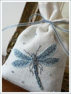 *Embroidered lavender sachet*