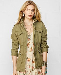 Denim & Supply Flag Herringbone Field Jacket, This ultra-cool cotton herringbone field jacket is designed with oversized utility pockets and an edgy American flag-inspired applique at the back. Clothing For Tall Women, Trendy Clothes For Women, Womens Clothing Stores, Online Clothing Stores, Ralph Lauren Uk, Blazer Jackets For Women, Denim And Supply, Field Jacket, Herringbone