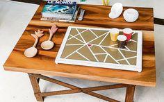 Personalize uma simples bandeja de MDF para servir um chá ou café na cama. Fotos: Letícia Akemi / Gazeta do Povo.