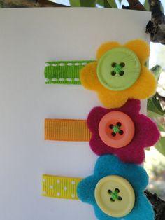 felt button flowers