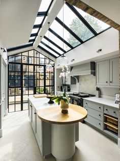 glass extension in kitchen taken by richard lewisohn photography