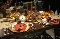 DIY Thanksgiving Tablescape #potterybarninspired
