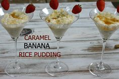 Caramel Banana Rice Pudding is delicious and easy!   #ad #SuccessRice @SuccessRice