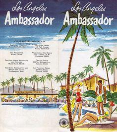Ambassador Hotel Brochure, 1955
