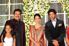 Dulquar Salman Marriage reception photos Fashion Couple, Women's Fashion, Celebrity Weddings, Celebrity Style, Arun Vijay, Marriage Reception, Bollywood Wedding, Malu, Film Industry