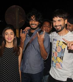 #Exclusive!! @shahidkapoor, @AliaBhatt and @diljitdosanjh mobbed at PVR. Check Out here..