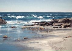 Laguna Plein Artist Matt Smith received the 2018 Artists' Choice Award for his body of work created during the Annual Laguna Plein Air Painting Invitational. Watercolor Landscape, Landscape Art, Landscape Paintings, Landscapes, Ocean Art, Ocean Waves, Coastal Art, Seascape Paintings, Beach Art
