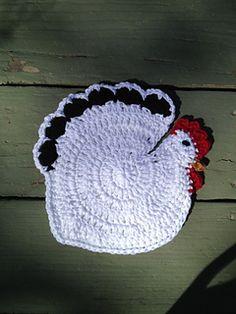 Crochet Speckled Hen Potholder