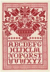 Folk Art Sampler: a Cross Stitch Kit from Diane Arthurs available at EverythingCrossStitch.com.