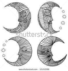 stock-vector-moon-original-vectorized-drawing-of-moons-121212286.jpg (450×470)