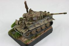Bogged down Tiger Tank Objective Marker for Flames of War