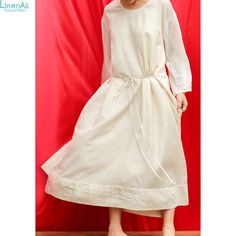 US  369.0  Aliexpress.com   Buy LinenAll women s summer white long dress,  Original design women s handmade 100% silk one piece dress limited dress  female ... afa9321b516