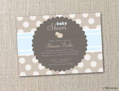DIY Printable Invitation. Little Lamb Neutrals Baby Shower Invitation. DIY by tot.ful mem.o.ries.