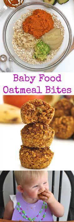 Baby Food Oatmeal Bites