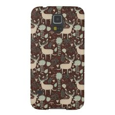 Deer and Leaves Pattern Case For Galaxy S5