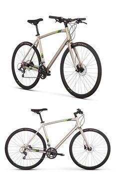 "Raleigh Bikes Raleigh Cadent 3 Urban Fitness Bike, 15"" Frame, Tan, 15"" / Small Urban Fitness, Hybrid Bikes, Raleigh Bikes, Fitness Bike, Bicycle, Frame, Green, Blue, Bicycle Kick"